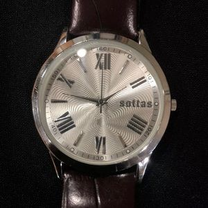 Sottas Watch Men's Band New! Genuine Leather Band.